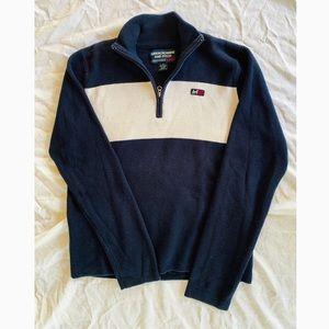 Abercrombie Navy Pullover Half Zip Up Sweater